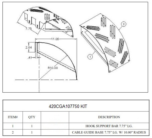 Cable Guide for Ladder Rack
