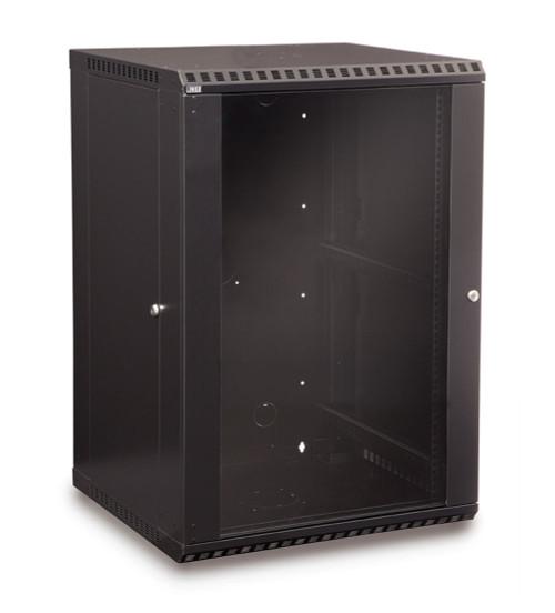 18U LINIER Fixed Wall Mount Cabinet With Glass Door