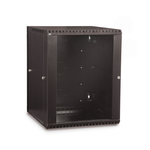 15U LINIER Swing-Out Wall Mount Cabinet With Glass Door