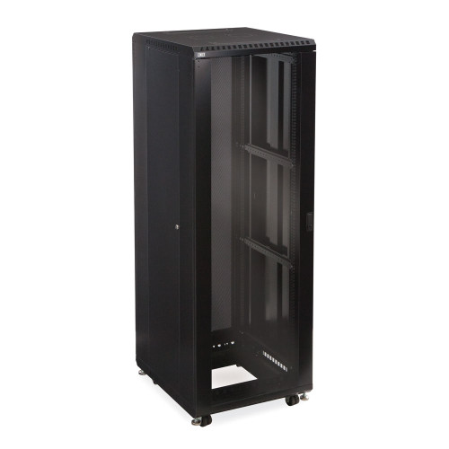 """37U LINIER Server Cabinet With Glass Front and Rear Doors - 24"""" Depth"""