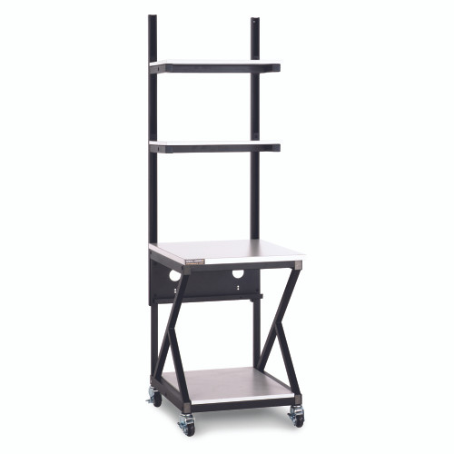 """24"""" Performance 200 Series LAN Station with 28 D Lower Shelf - Folkstone"""