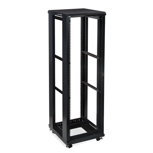 """42U LINIER Server Cabinet, Open Frame No Doors 24"""" Depth, 19"""" Rack Mount"""