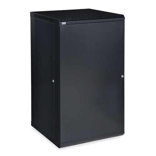 22U LINIER Fixed Wall Mount Cabinet With  Solid Door