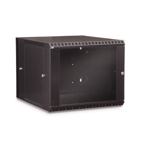 9U LINIER Swing-Out Wall Mount Cabinet With Glass Door