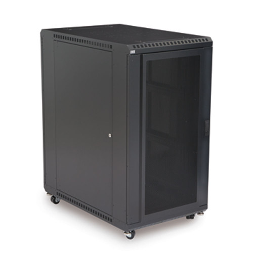 "22U LINIER Server Cabinet With Convex And Vented Doors - 36"" Depth"