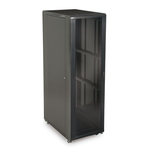 """42U LINIER Server Cabinet With Glass Front and Rear Doors - 36"""" Depth"""