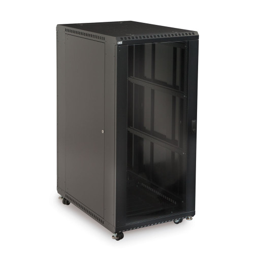 "27U Server Cabinet With Front Glass and Solid Rear Doors - 36"" Depth"