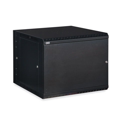 9U LINIER Swing-Out Wall Mount Cabinet With Solid Door