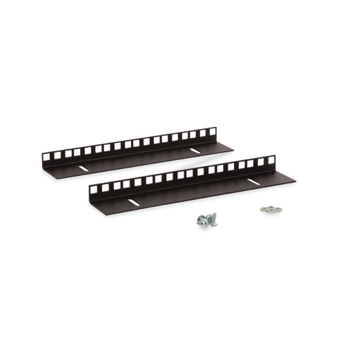 6U LINIER Wall Mount Cabinet Vertical Mounting Rail Kit- Cage Nut Style
