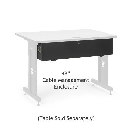 """48"""" Training Table Cable Management Enclosure / Trough"""