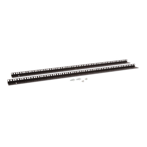 22U LINIER Wall Mount Cabinet Vertical Mounting Rail Kit- Cage Nut Style