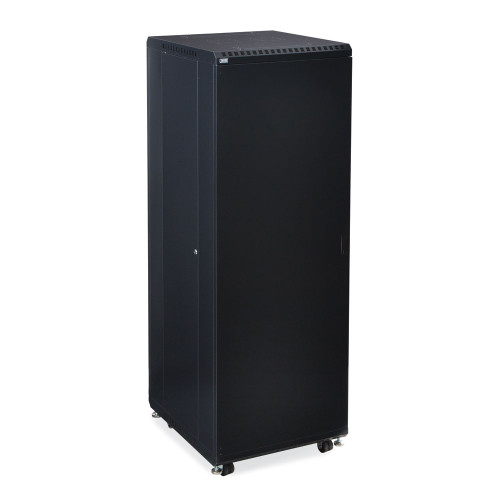 """37U Server Cabinet With Solid Front And Convex Rear Doors - 24"""" Depth"""