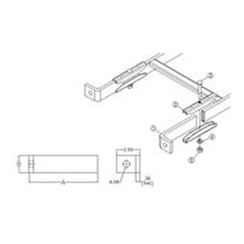 Foot/Floor Mount for Cable Ladder Rack