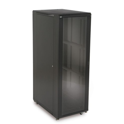 """37U Server Cabinet With Front Glass and Solid Rear Doors - 36"""" Depth"""