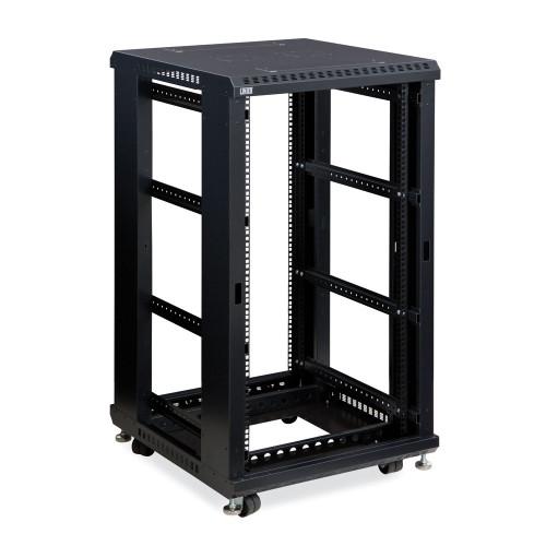 22u Linier Server Cabinet Open Frame No Doors 24 Depth 19 Rack
