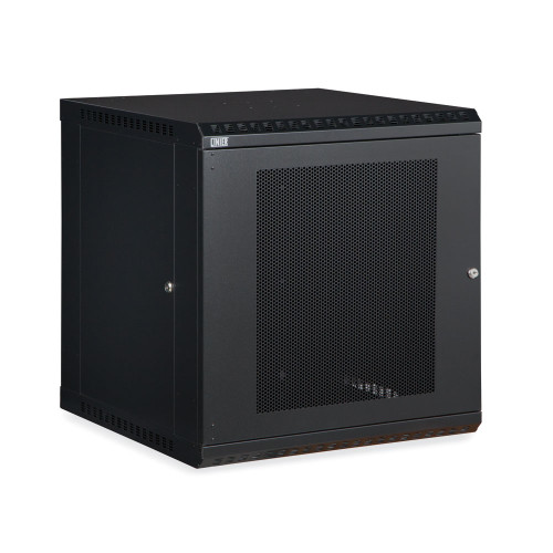 12U LINIER Fixed Wall Mount Cabinet With Mesh - Perforated - Vented Door