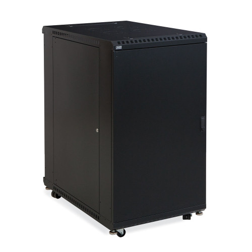 "22U LINIER Server Cabinet  With Solid Front And Rear Doors - 36"" Depth"