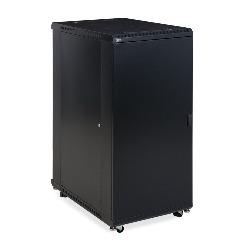 "27U LINIER Server Cabinet  With Solid Front And Rear Doors - 36"" Depth"