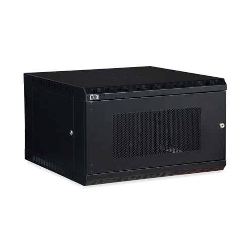 6U LINIER Fixed Wall Mount Cabinet With Mesh - Perforated - Vented Door