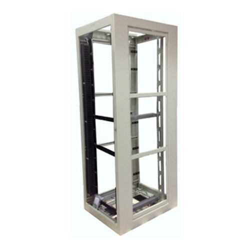 Zone 4 Seismic Constructed Server Rack Cabinet, Open Frame -28, 32, or 36 Wide