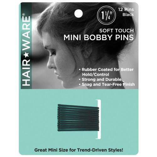 "HairWare Soft Touch Mini 1 1/4"" Bobby Pins"