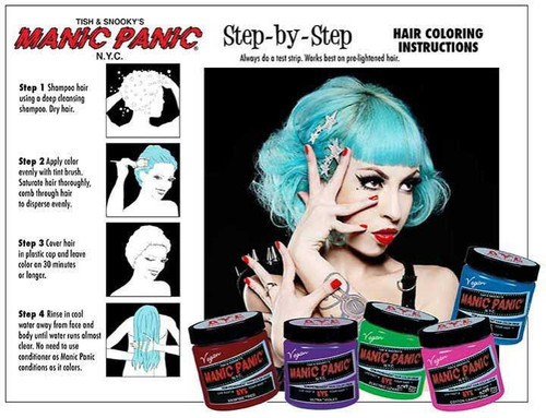 Manic Panic High Voltage Classic Cream Hair Color Step-by-step