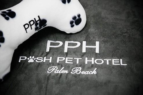 Posh Pet Hotel Embroidery on Kuranda Slipcover