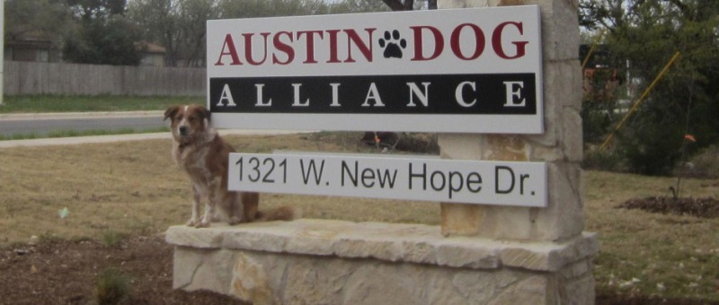 Austin Dog Alliance Sign