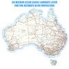 Australia Map Vinyl Decal Gloss Laminated 45cm Wide