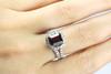 Unique 18K White Gold Diamond Rubellite Ring - WoH