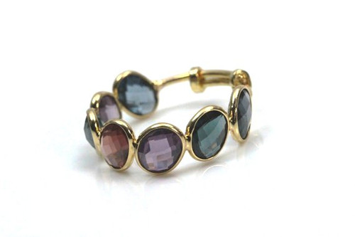 Sapphire Natural Stackable Ring, Natural Fine Quality Mixed Color Sapphire Ring