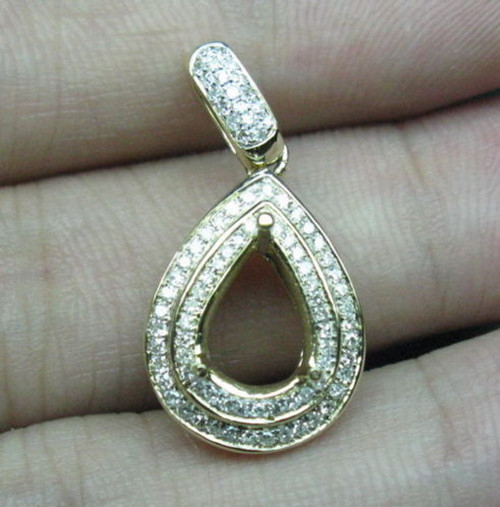 Unique pendant settings 14k gold natural diamond pendant setting aloadofball Images