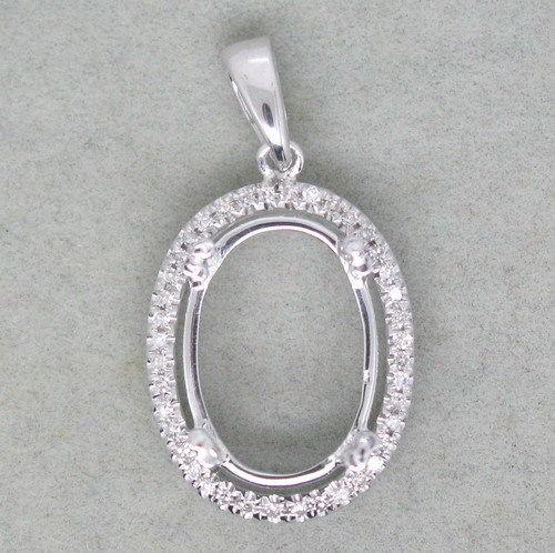 Oval 14k gold natural diamond pendant setting petra gems oval 14k gold natural diamond pendant setting aloadofball Gallery