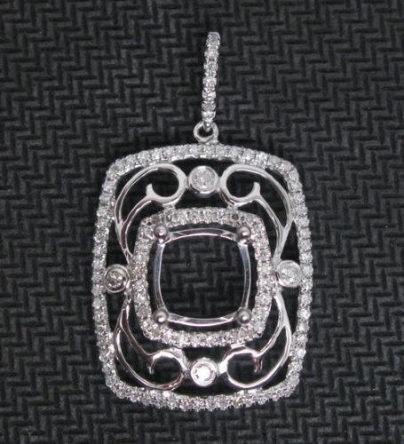 Cushion semi mount 14k gold natural diamond pendant setting petra gems cushion semi mount 14k gold natural diamond pendant setting aloadofball Choice Image