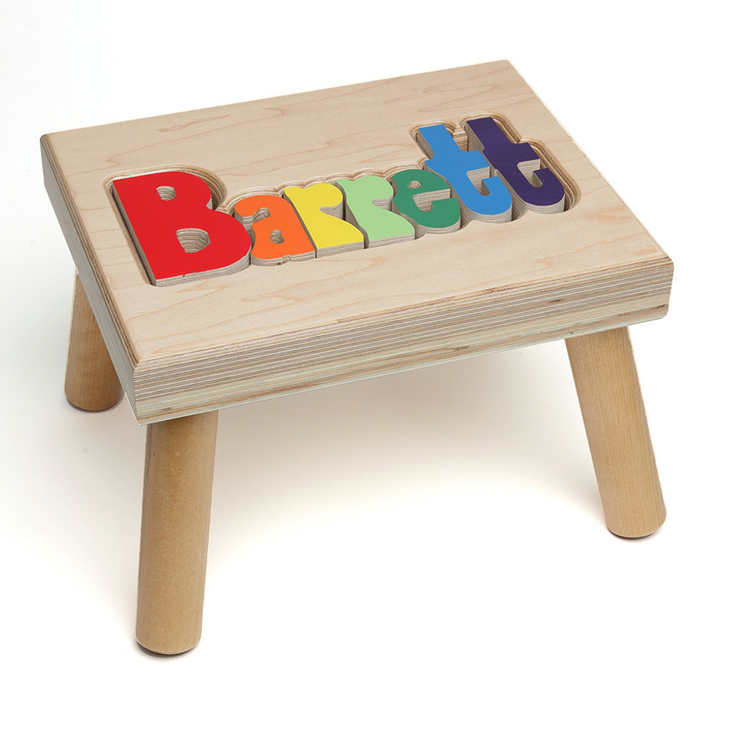 Maple Name Puzzle Step Stool