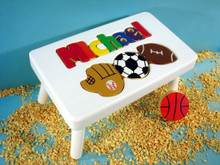 Puzzle Step Stool with Sports