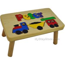 train puzzle name step stool