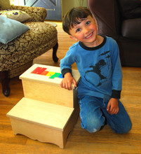 Digitally Cut Two Step Puzzle Stool