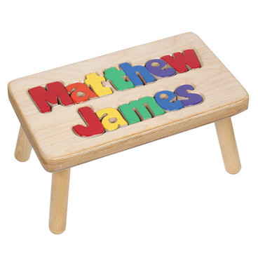 Two Name Personalized Puzzle Step Stool