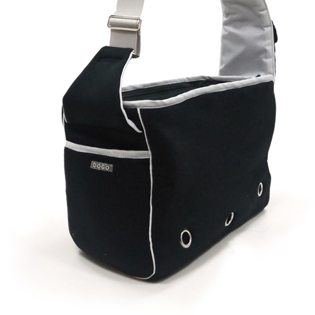 Black Boxy Messenger Bag