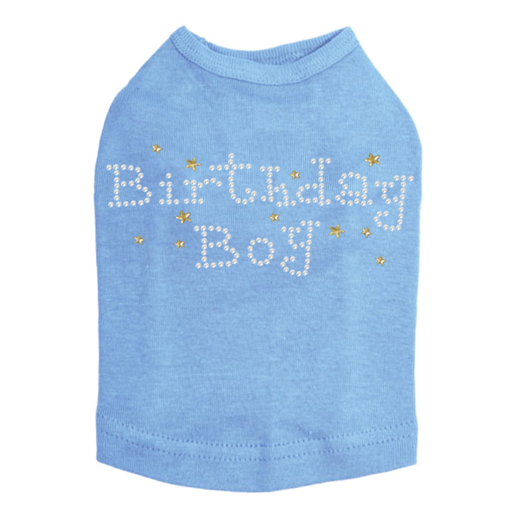 Birthday Boy with Gold Stars - Dog Tank