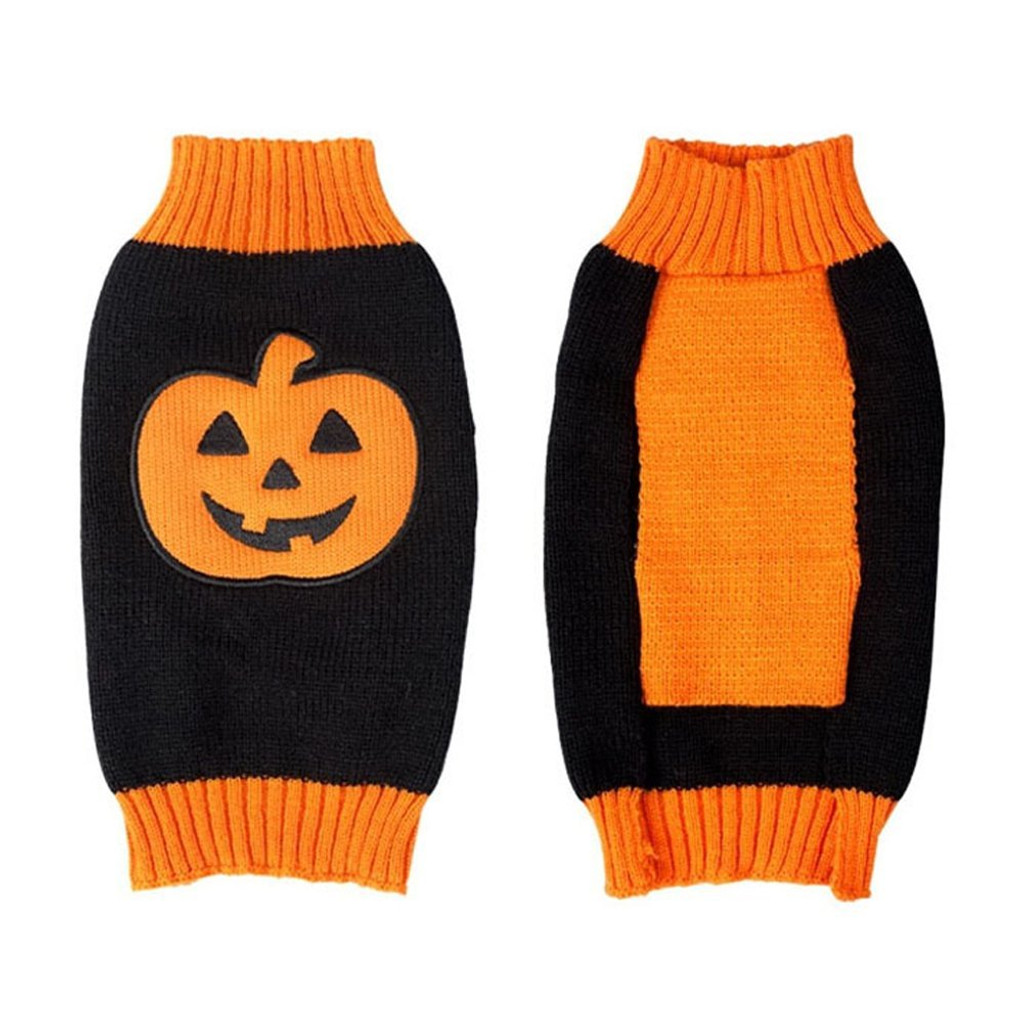 Halloween Pumpkin Pet Dog Sweater
