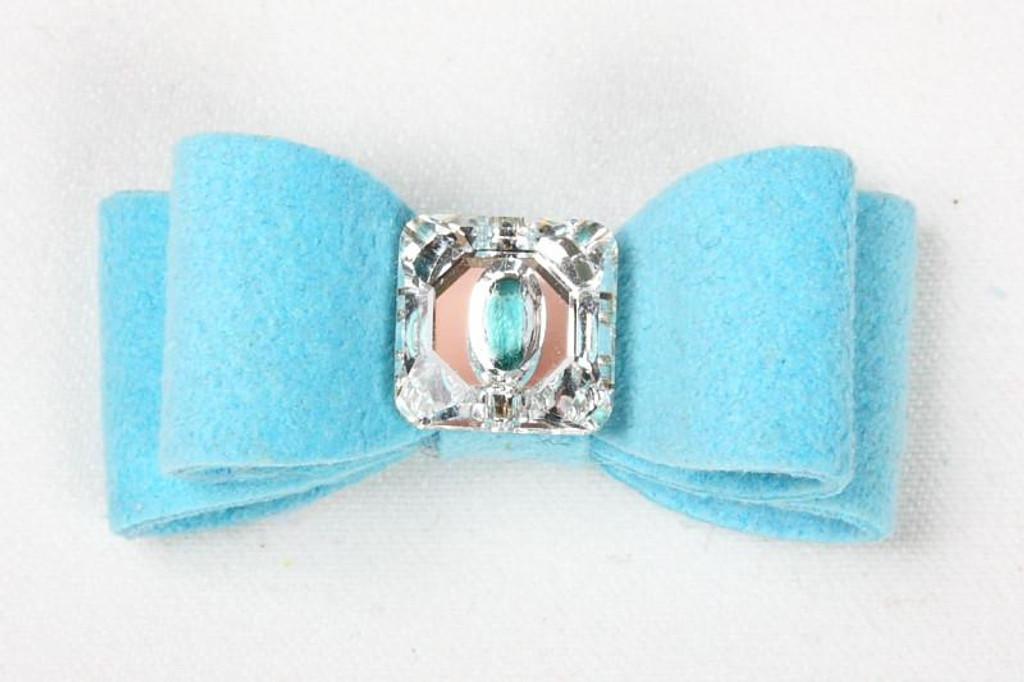 Luna Bowtique Tiffinye Blue Big Bow Hair Bow