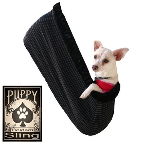 Black Pinstripe Sling