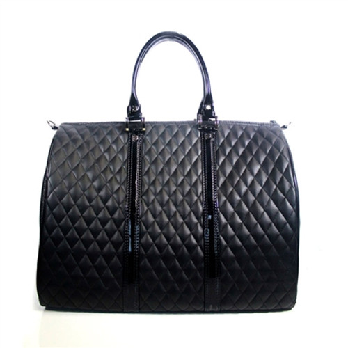Petote Black Quilted Luxe JL Duffel Carrier