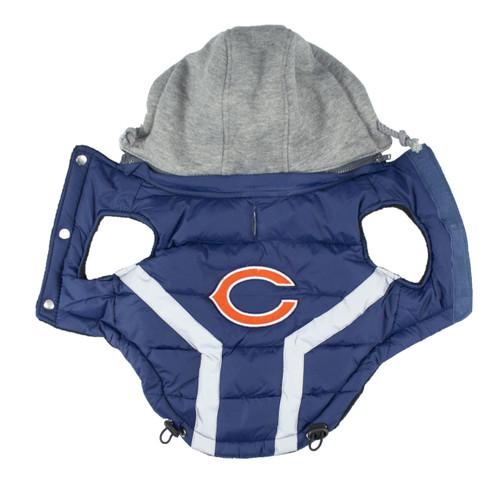 Hip Doggie Chicago Bears Dog Puffer Vest