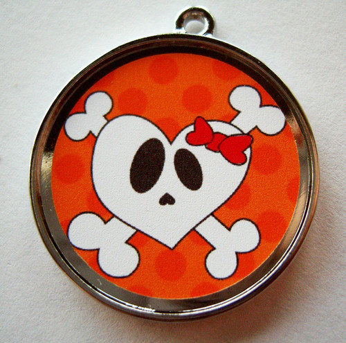Heart Skull Pet ID Tag