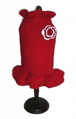 Dallas Dogs Red Holiday Sweater Dress