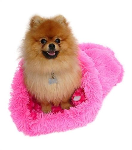 Hot Pink Powder Puff Plush Cozy Sak