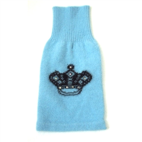 Mimi Crown Angora Blend Turtleneck, Light Blue